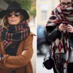Модные женские шарфы 2018 года